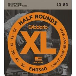 D'Addario EHR320 Demi Rond Light Top-Heavy Bottom 10-52