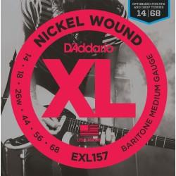 D'Addario EXL157 Nickel Wound Baryton Medium 14-68 Cordes Guitare Electrique