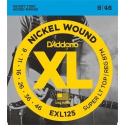 D'Addario EXL125 Nickel Wound 9-46 Cordes Guitare Electrique