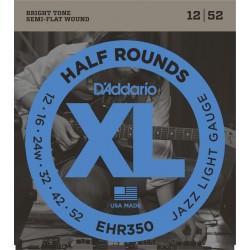 D'Addario EHR350 Demi Rond Jazz Light 12-52