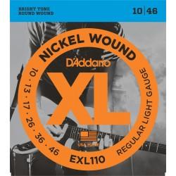 D'Addario EXL110 Nickel Wound Regular Light 10-46 Cordes Guitare Electrique