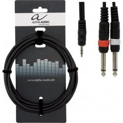 Alpha Audio Cable Jack Stéréo/Double Jack 3M