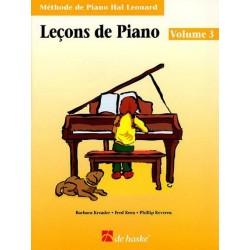 Méthode de Piano Hal Leonard : Leçons de Piano Volume 3
