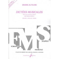 Jean-Clément Jollet : Dictées Musicales, Volume 4, Livre de l'Elève