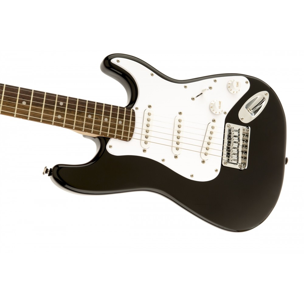 squier mini stratocaster black cgs musique chamb ry music leader annecy st genis music. Black Bedroom Furniture Sets. Home Design Ideas