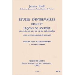 Jeanine Rueff : Etudes d'Intervalles, 18 Leçons de Solfège