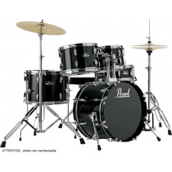 "Pearl RS585CC-707 Batterie Junior 18"" 5 Fûts Jet Black"