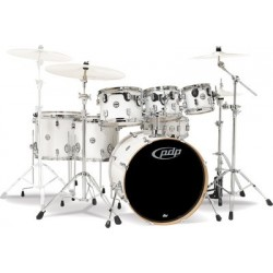 PDP Concept Maple CM7 Standard 22 Pearlescent White + Pack Hardware 900