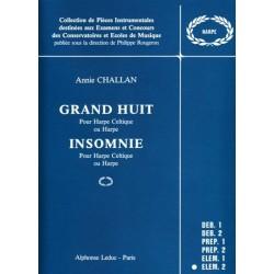 Annie Challan : Grand Huit et Insomnie Pour Harpe