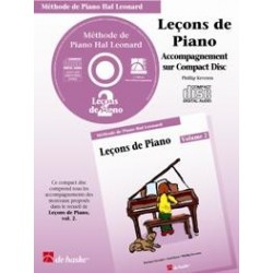 Méthode de Piano Hal Leonard : CD Leçons de Piano Volume 2
