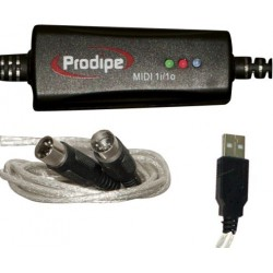 Prodipe HILPRO1I1O Interface Midi / USB