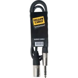 Yellow Cable K14-3 Jack Stéréo/XLR 3M