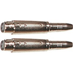 Yellow Cable AD23 Adaptateurs Jack Femelle/XLR Femelle