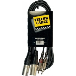 Yellow Cable K09-3 Double RCA/Double XLR 3M