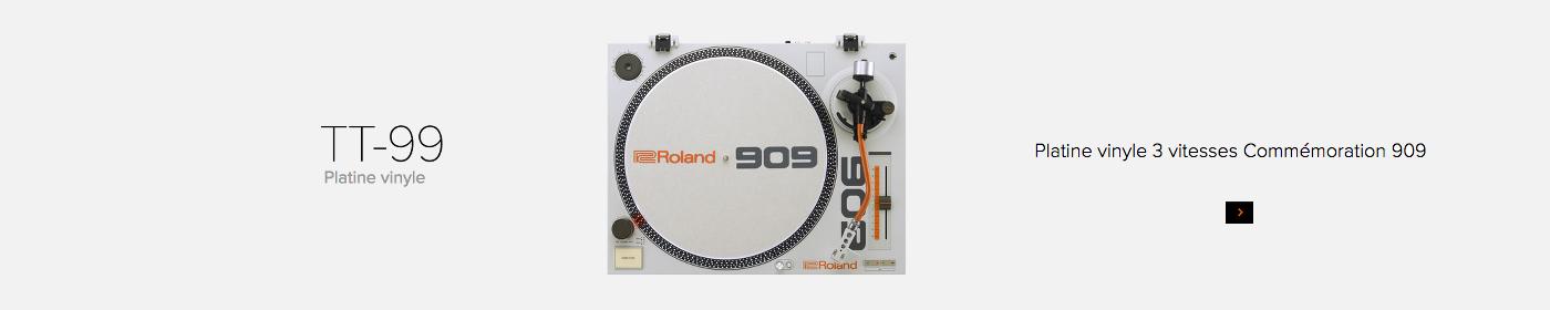 Roland TT-99 Platine Vinyle