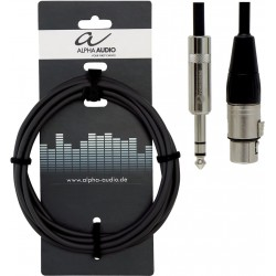 Alpha Audio Cable Jack Stéréo/XLR 3M