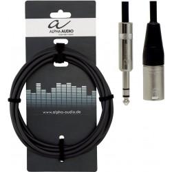Alpha Audio Cable Jack Stéréo/XLR Mâle 3M