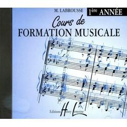 CD Marguerite Labrousse : Cours de Formation Musicale 1ère Année