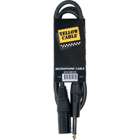 Yellow Cable M03JX  Jack/XLR Mâle 3M