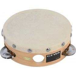 Gewa Tambourin Peau Naturelle 15cm + Cymbalettes