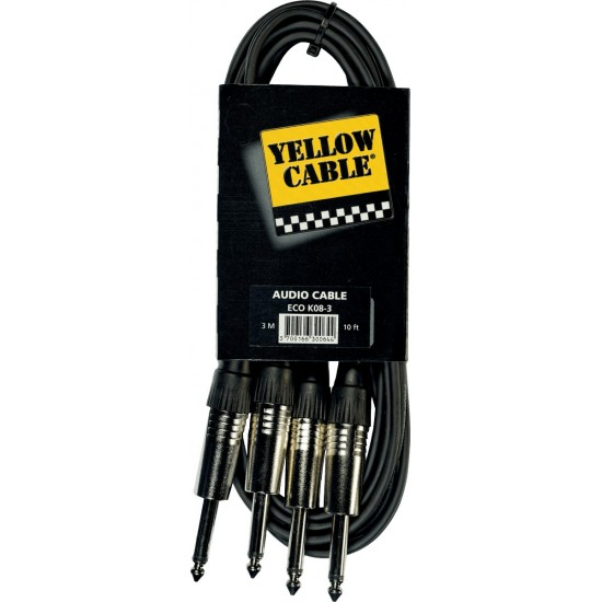 Yellow Cable K08-3 Double Jack/Double Jack 3M