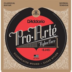D'Addario EJ45 Pro Arte Normal Cordes Guitare Classique