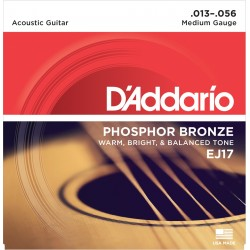 D'Addario EJ17 Phosphore Bronze Medium 13-56 Cordes Guitare Acoustique