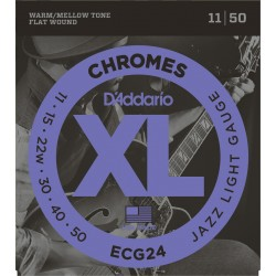 D'Addario ECG24 Chromes Filé Plat Jazz Light 11-50