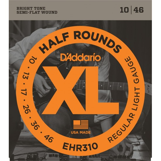 D'Addario EHR310 Demi Rond Regular Light 10-46