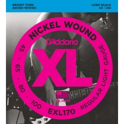 D'Addario EXL170 Basse Regular Light 45-100