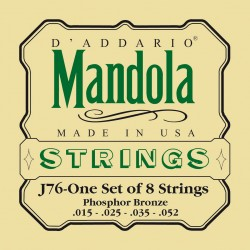 D'Addario J76 Phosphore Bronze 15-52 Cordes Mandole