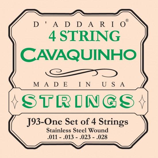 D'Addario J93 Acier Light 11-28 Cordes Cavaquinho