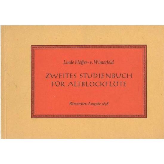 Linde Höffer von Winterfeld : Zweites Studiebuch Für Altblockflöte