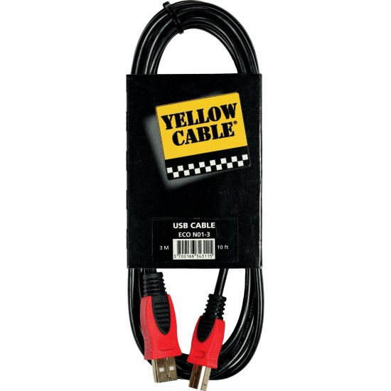 Yellow Cable N01-3 USB/USB Mâle 3M