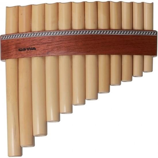 Gewa Flûte de Pan 12 Tubes Type Roumaine