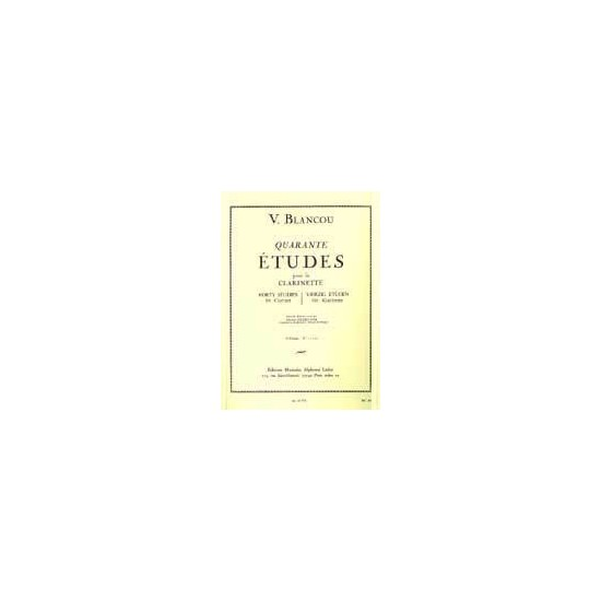 V. Blancou : 40 Études Cahier 2