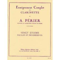 Auguste Périer : Vingt Etudes Faciles et Progressives