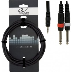 Alpha Audio Cable Jack Stéréo/Double Jack 3M