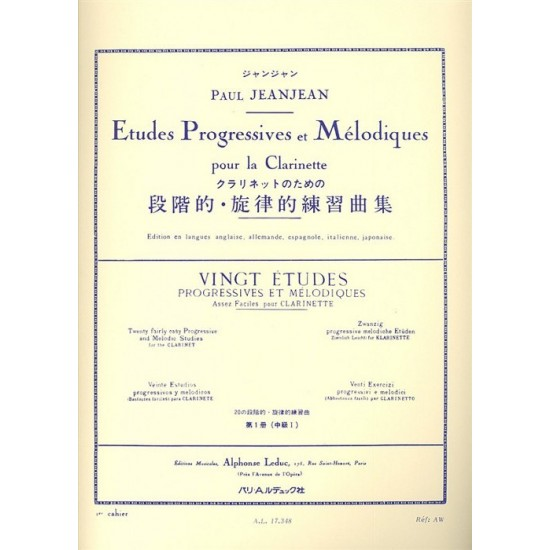 Paul JeanJean : Études Progressives et Mélodiques 1er Cahier