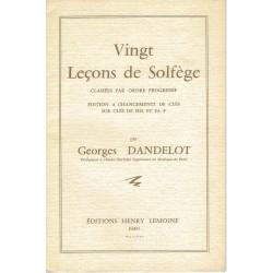 Georges Dandelot : 20 Leçons de solfège En Clé Sol et Fa