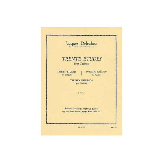 Jacques Delécluse : 30 Etudes Pour Timbales 2ème Cahier