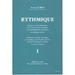 Yvon Le Prev : Rythmique Cahier 1