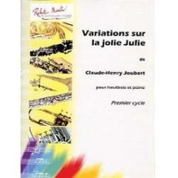 Claude-Henry Joubert : Variations Sur La Jolie Julie Pour Hautbois Piano