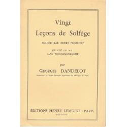 Georges Dandelot : 20 Leçons de solfège En Clé Sol Sans Accompagnement
