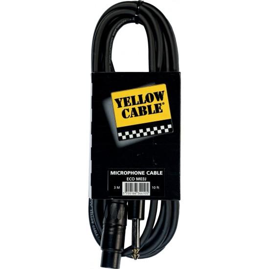 Yellow Cable M03J Jack/XLR Femelle 3M