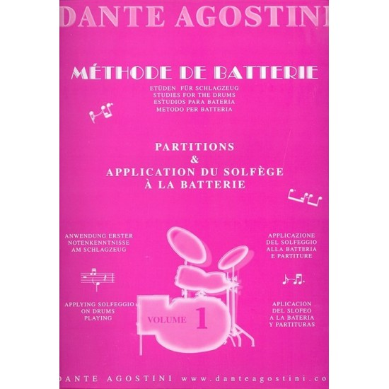 Agostini Dante : Méthode de Batterie Volume 1