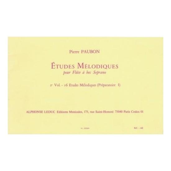 Pierre Paubon : Etudes Mélodiques Volume 2