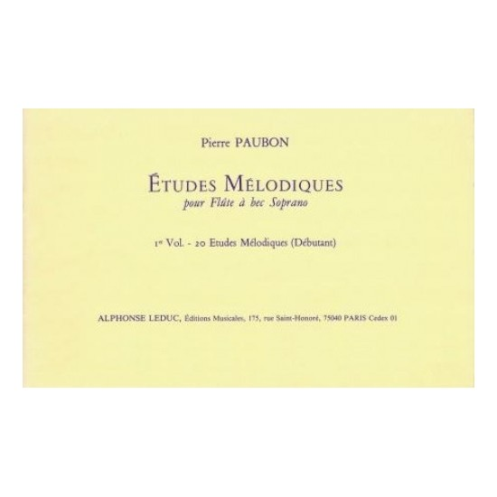 Pierre Paubon : Etudes Mélodiques Volume 1