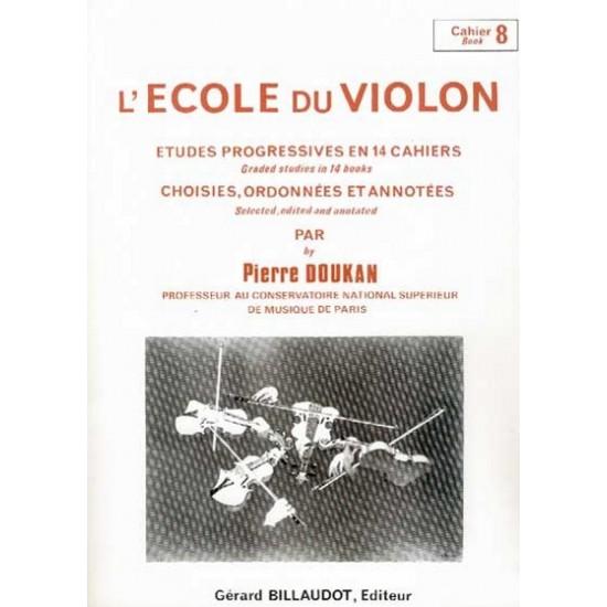Pierre Doukan : L'école Du Violon Cahier 8