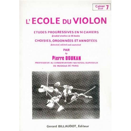 Pierre Doukan : L'école Du Violon Cahier 7